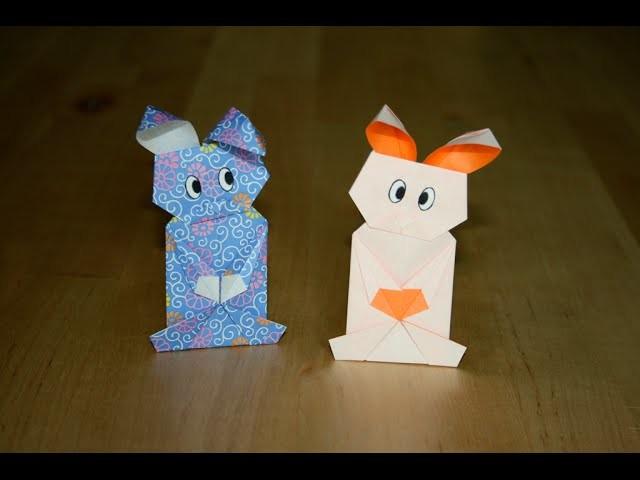Origami - Lapin cachette - Pocket Bunny [Senbazuru]