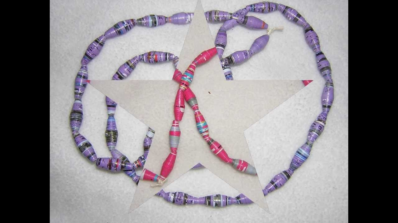 Perles en papier-Paper beads