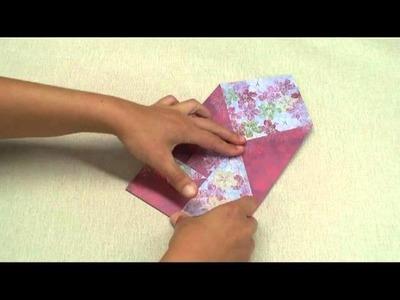 Pochette cadeau en origami