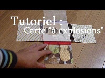 """Tutoriel : Réaliser une carte """"à explosions"""" - Scrapbooking. DIY """"explosions"""" card"""