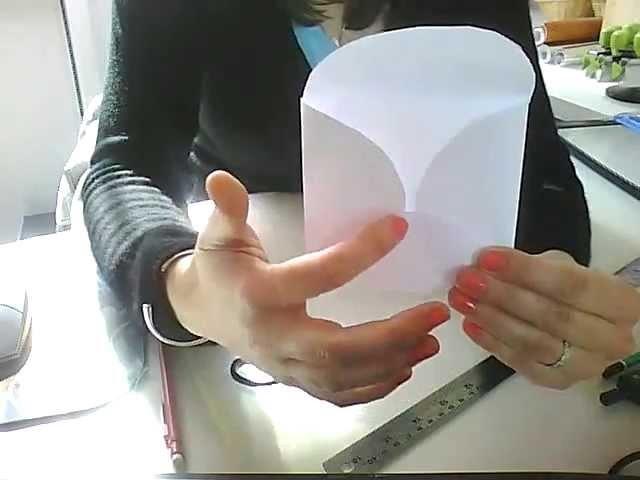 Tutoriel Scrapbooking :  créer une enveloppe fleur