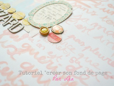 Tutoriel scrapbooking