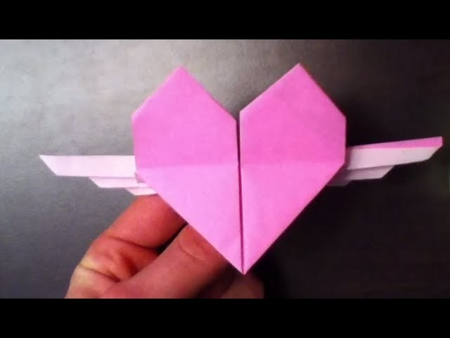 Faire un cœur ailé en origami - Tutoriel Coeur ailé origami: Faire un coeur original en papier