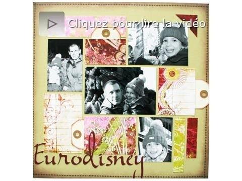 Atelier scrapbooking colorblocking tutorial technique français