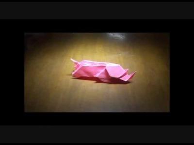 Origami rhinocéros by Christophe Guénot