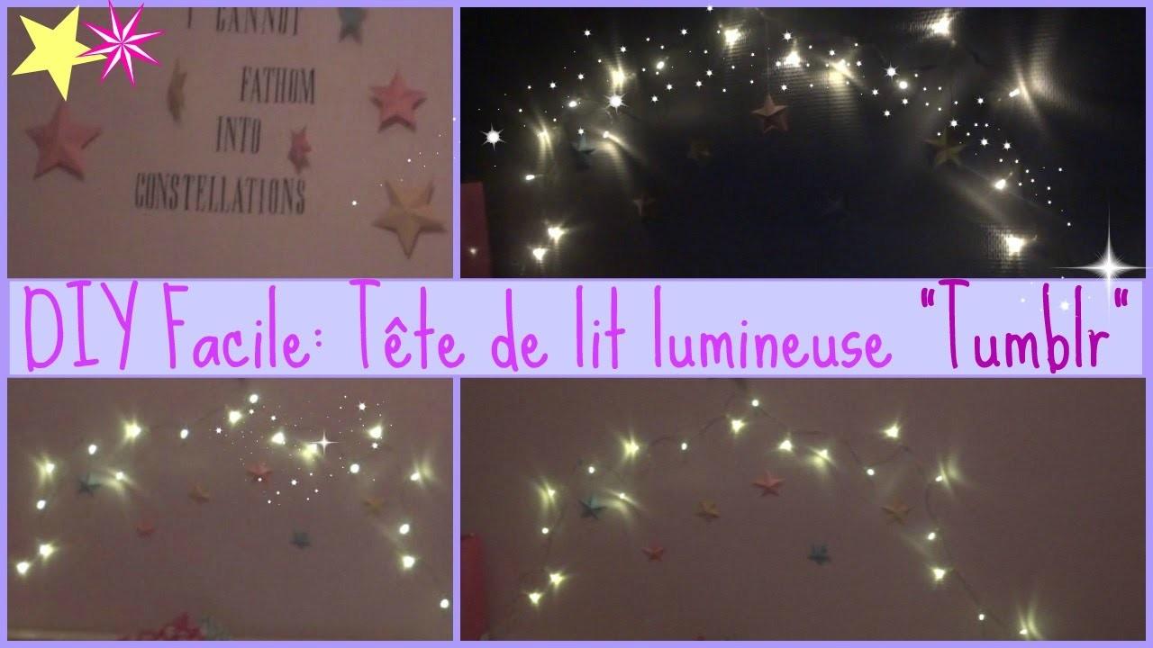 ♥DIY facile! Tête de lit lumineuse TUMBLR ♥