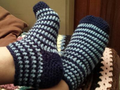 Chaussettes au crochet
