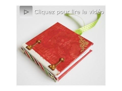 Atelier scrapbooking tutoriel mini album technique français