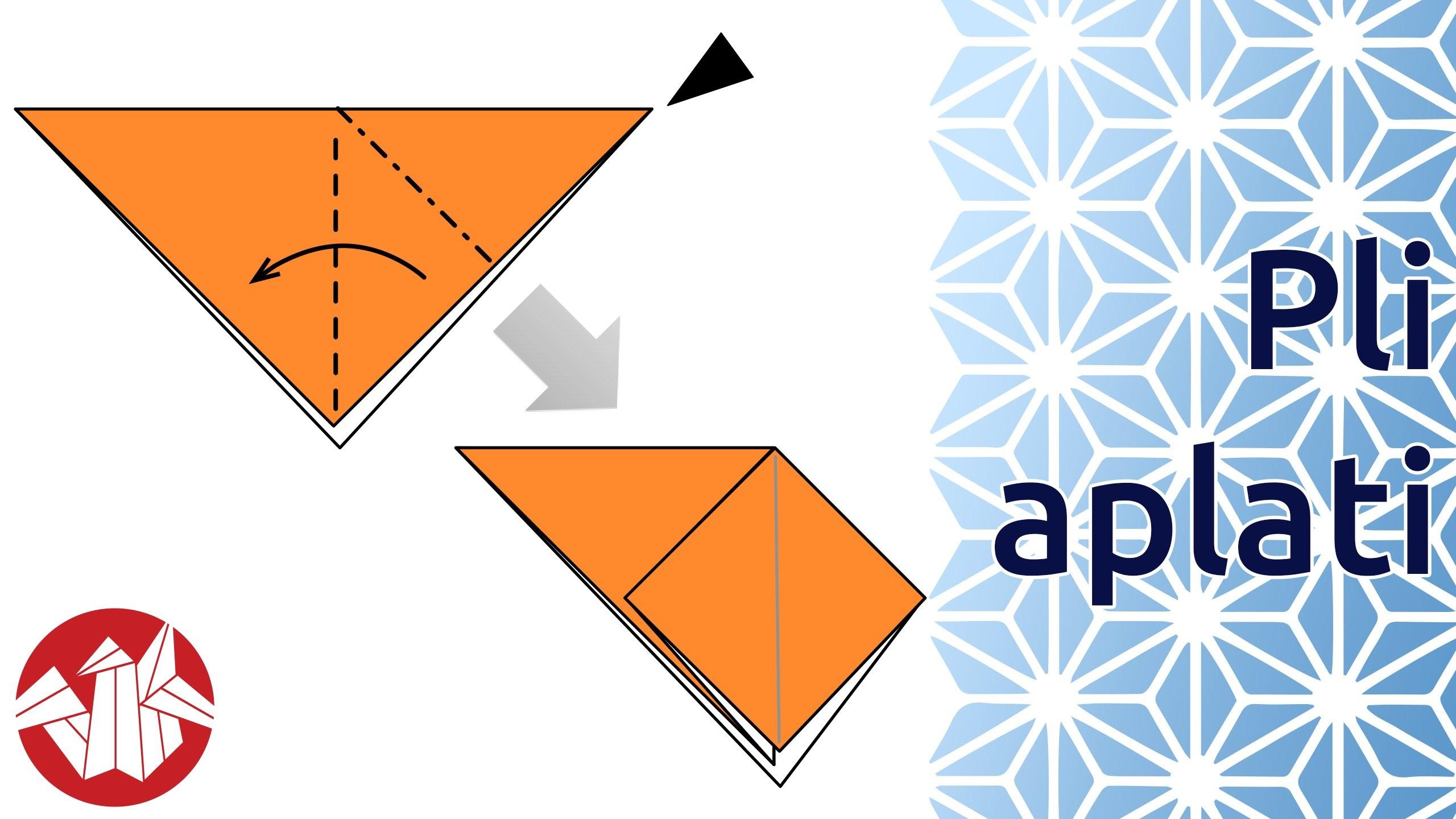 Débuter en Origami - Réaliser un pli aplati (Squash Fold) [Senbazuru]