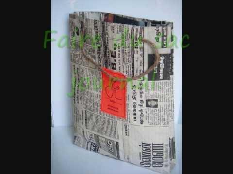 Sac en papier journal indienne