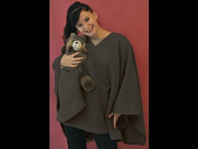 Comment coudre une cape.poncho, en laine. Kit de chez