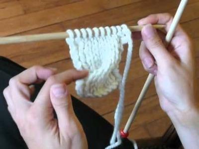 Cours de tricot 11 - les torsades