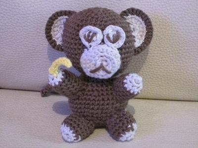 D.I.Y TUTO CROCHET AMIGURUMI BOUGA LE SINGE ; AMIGURUMI AVEC PATRON (petit animaux au crochet)