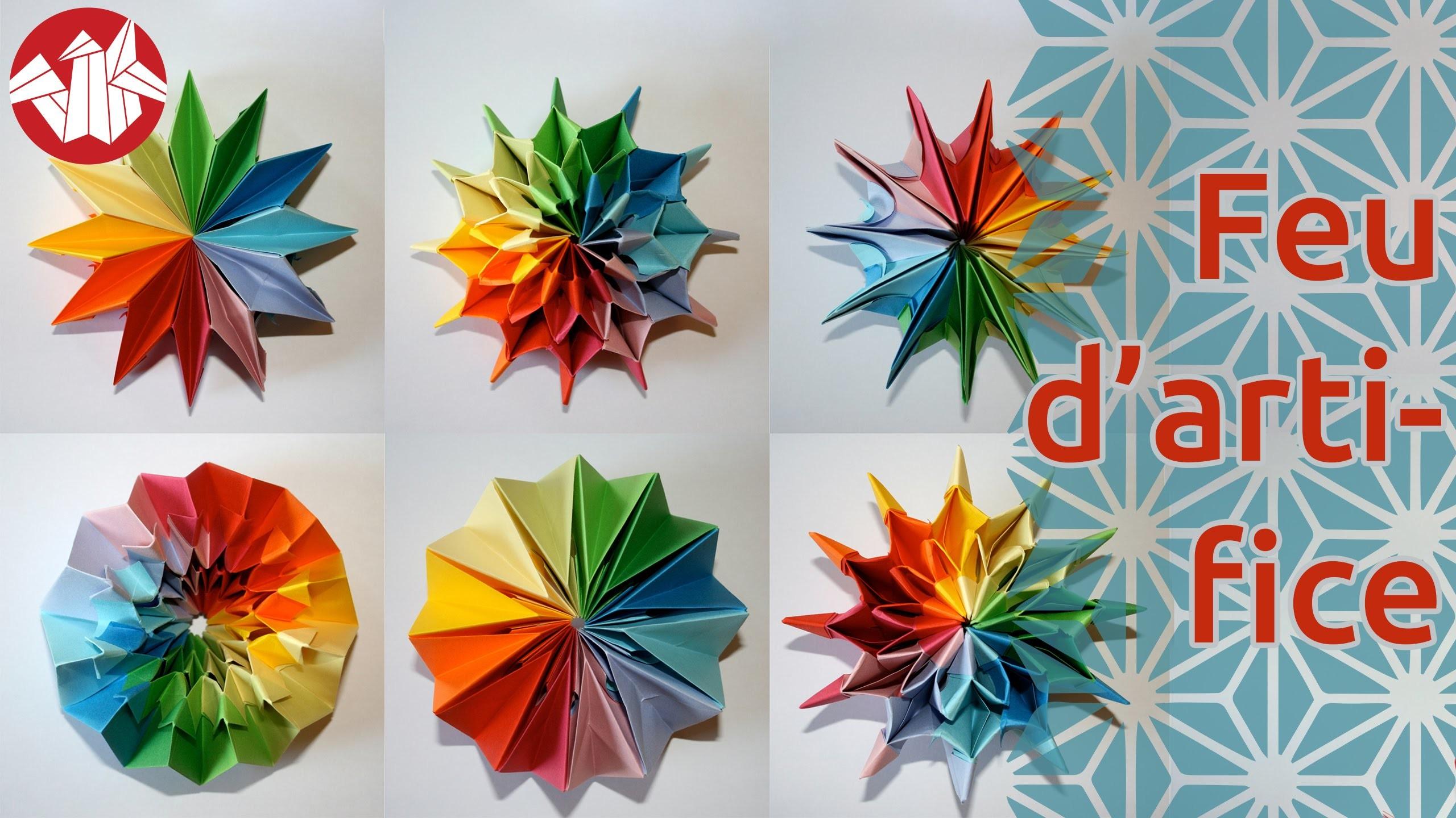Origami - Feu d'artifice: Pliage modulaire qui se transforme [Senbazuru]