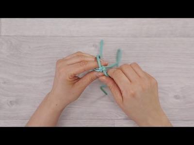 """Phildar """"Au tricot - DIY"""" : Réaliser un bracelet scoubidou"""
