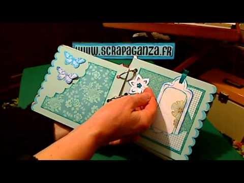 Scrapbooking gratuit sur scrapaganza.fr: mini-album naissance
