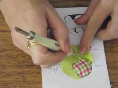 (TUTO):Créer tableau en tissus sur carton-mousse