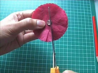 Tutoriel embellissement marguerite en papier de soie