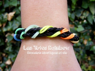 Bracelet enroulé, Rainbow loom, tutoriel français.
