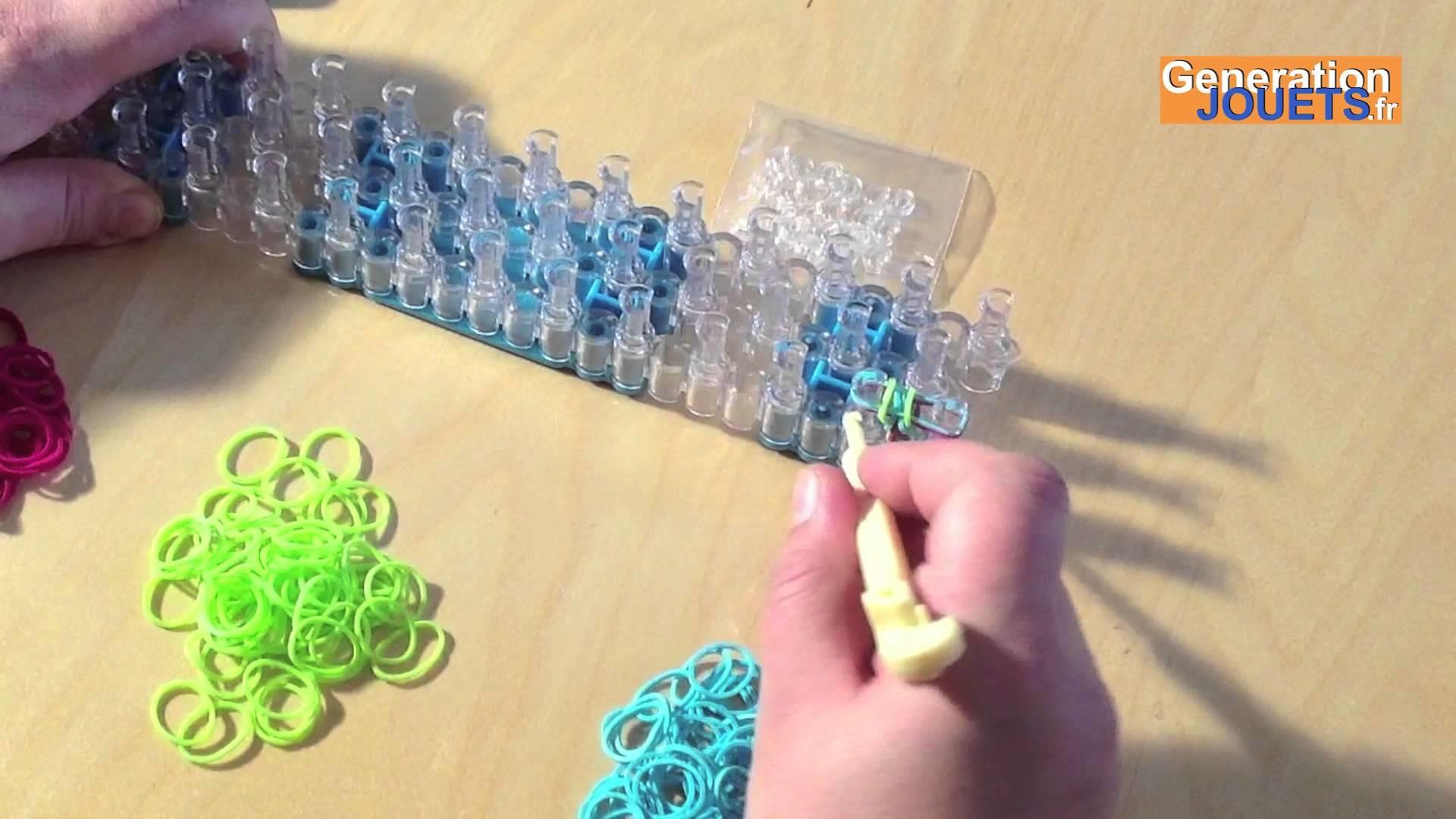 Créer un bracelet en élastique Rainbow Loom