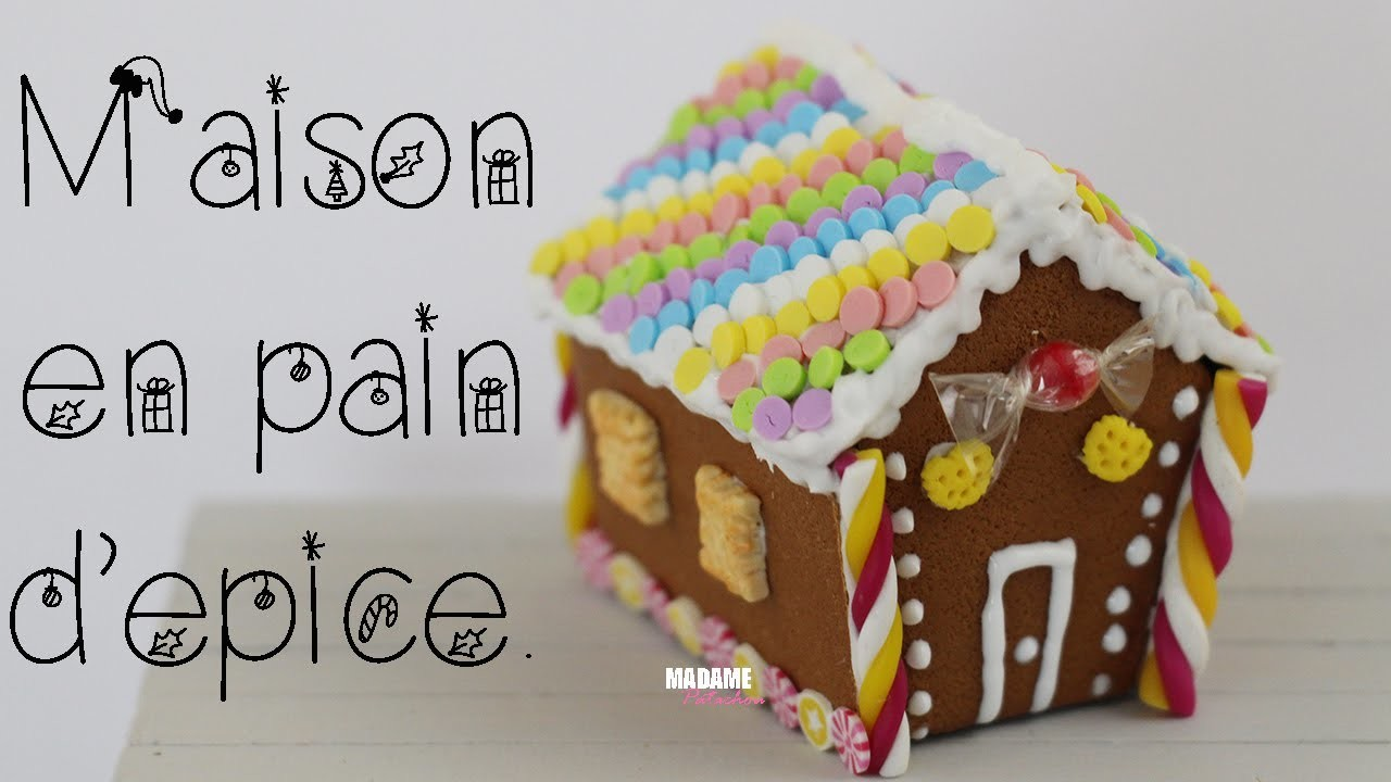[LPE] Maison En Pain d'Epice. Gingerbread House (Tuto Fimo. Polymer Clay Tutorial)