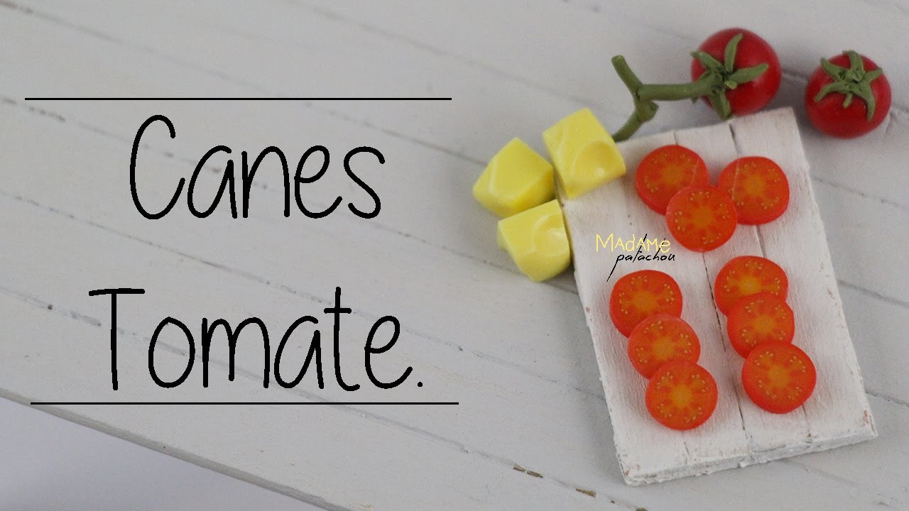 Canes Tomate. Tomato Cane  (Tuto Fimo. polymer clay)