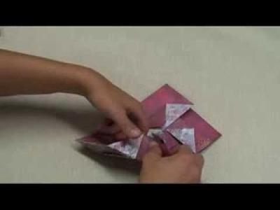 Origami - Fabriquer une pochette cadeau pour Noël