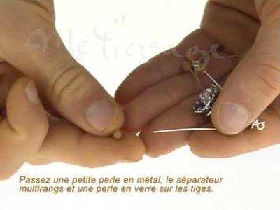 "Fabriquer un bijoux en perles  ""Collier lili"" tutorial"