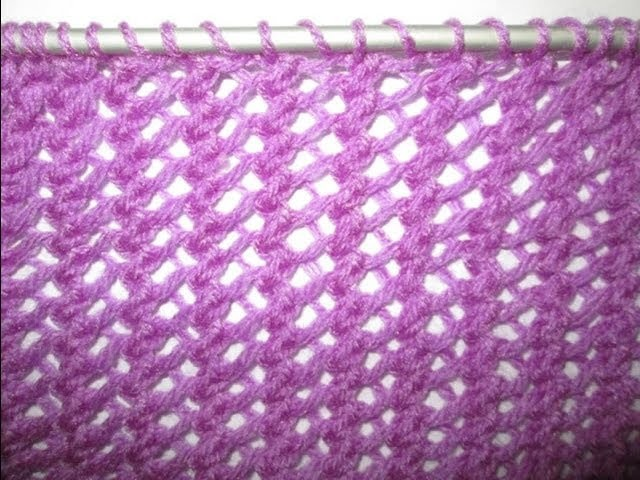 TUTO TRICOT APPRENDRE A TRICOTER LE POINT DE FILET AJOURE POINT DE TRICOT FANTAISIE FACILE !!!