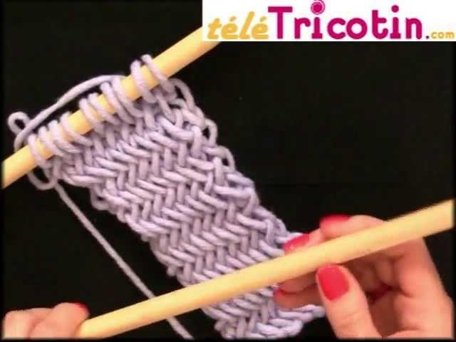 Le point Arête de Hareng ou Herringbone au tricot
