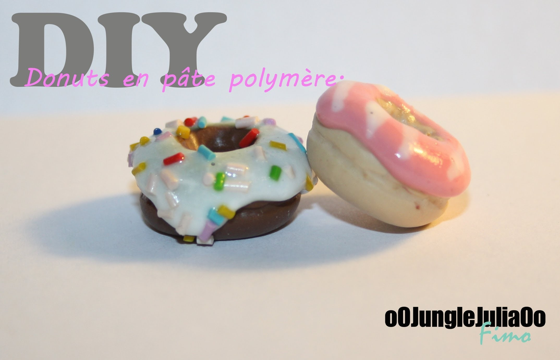 Tuto Fimo : Donuts. Polymer clay Donuts tutorial