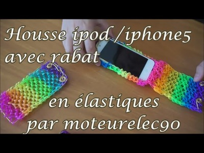 "Tuto housse en ""rainbow loom"" à rabat iPhone 5 How to make a iPhone case ?"
