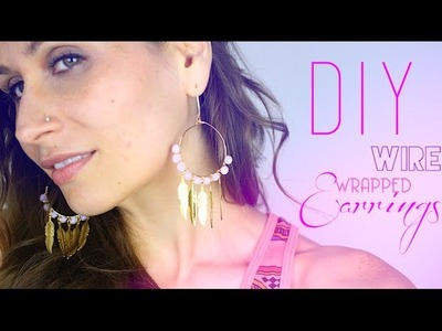 DIY - TUTO : BOUCLES D'OREILLES EN FIL DE LAITON - Wire wrapped Earrings