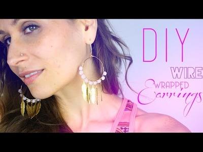 DIY - TUTO : BOUCLES D'OREILLES EN FIL DE LAITON - Wire wrapped Earrings