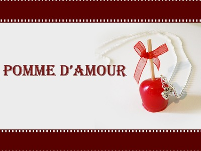 Faire une pomme d'amour. Apple of love polymer clay