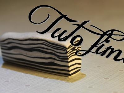 [♥✿ Tuto Fimo : Cane Zèbre (super facile) ✿♥] ~ [♥✿ Polymer Clay Tutorial : Cane Zebra ✿♥]