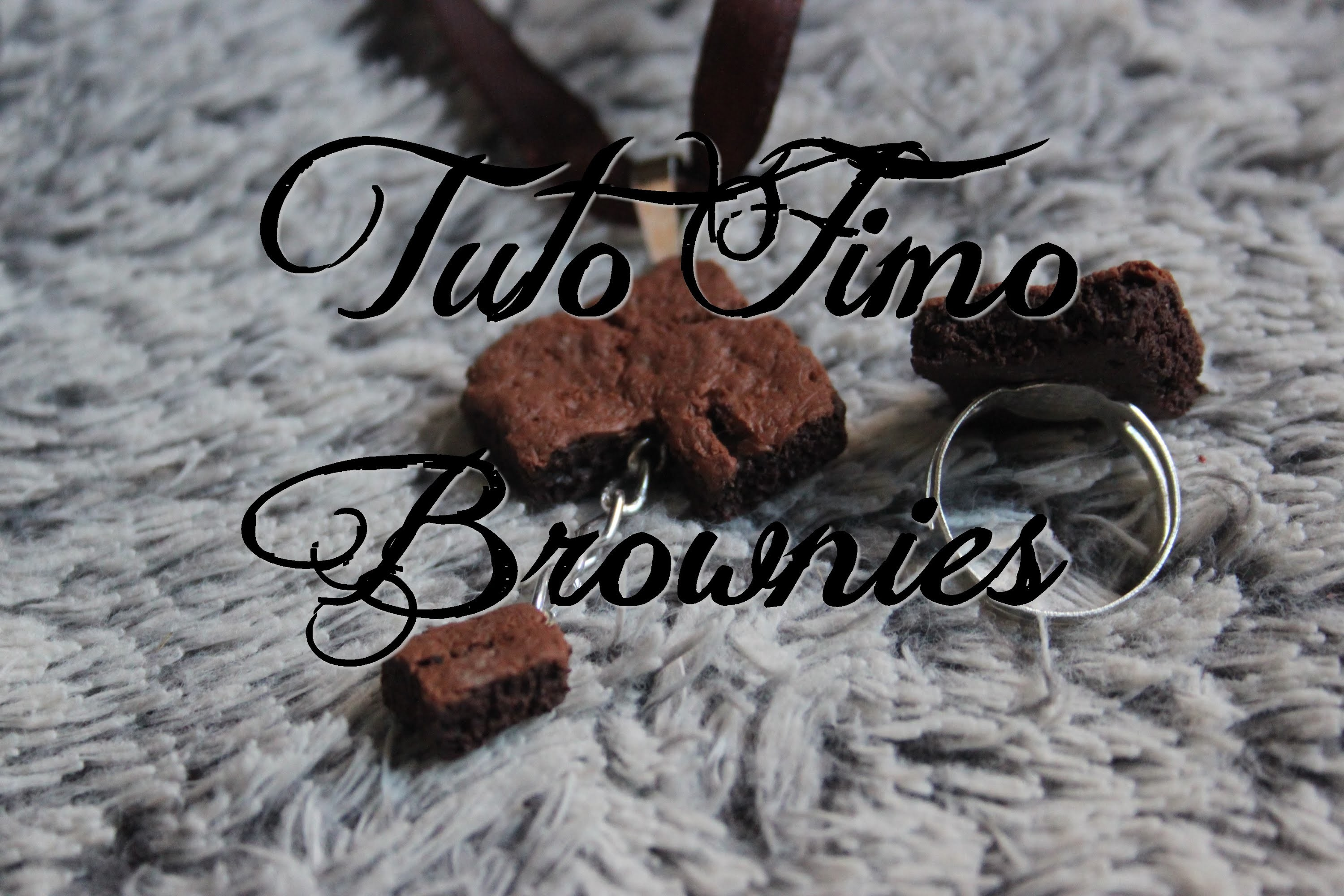 [♥ Tuto Fimo Brownies ♥]  ✿ Polymer Clay Tutorial Brownies ✿