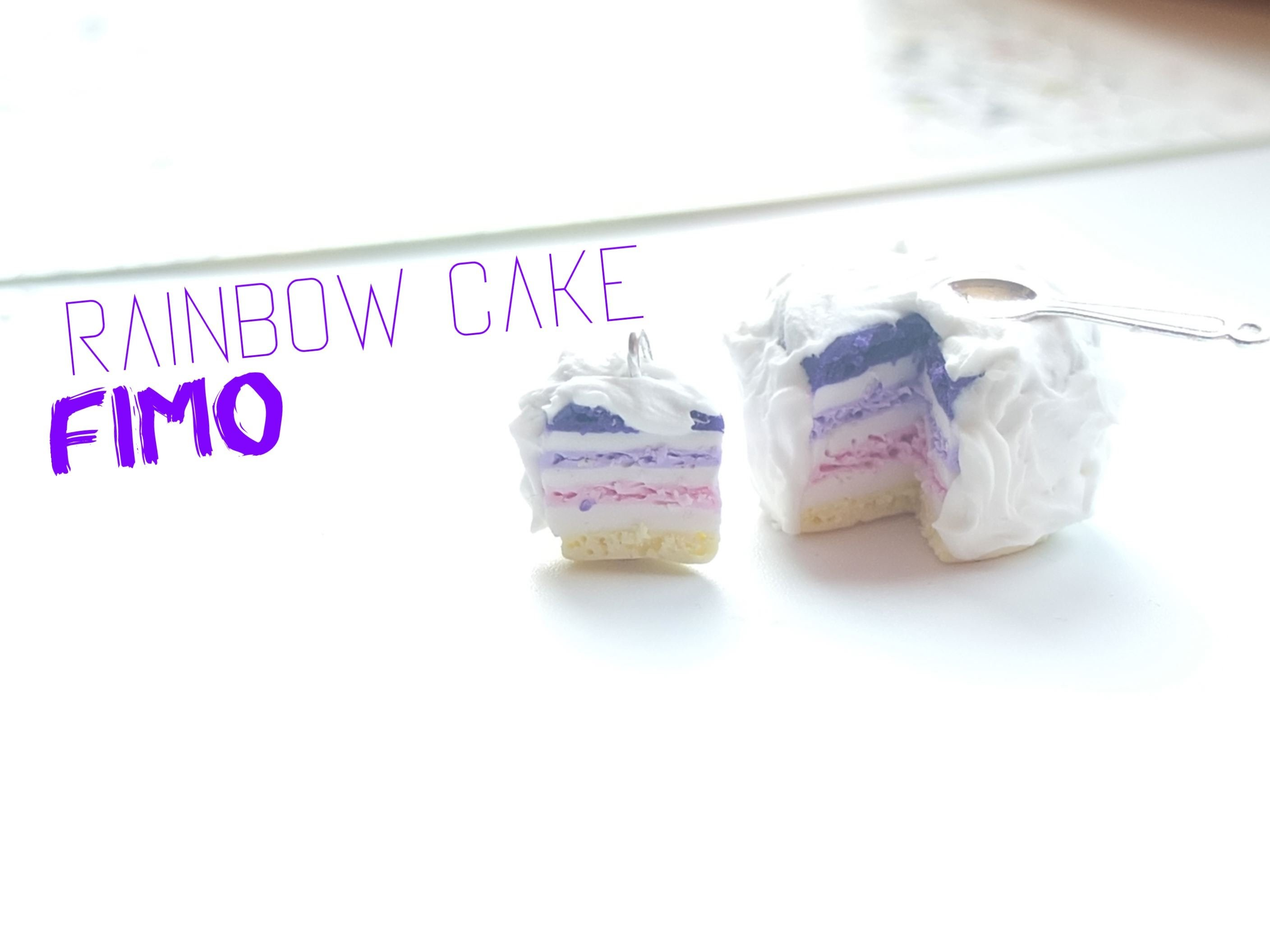 {D.I.Y.} - Le Rainbow Cake couleurs pastel | Rainbow cake in polymer clay