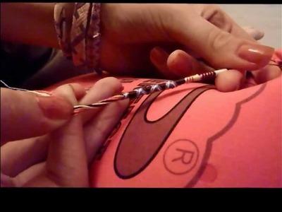 TUTO Bracelets Brésiliens. Tresse indienne (vidéo)