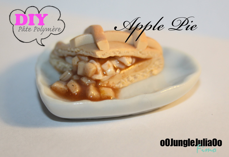 Tuto Fimo : Tarte aux pommes. Polymer clay apple pie tutorial