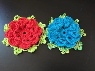 Tuto fleur 4 crochet