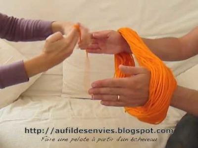 Apprendre à tricoter : Comment faire une pelote à partir d'un écheveau