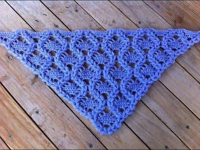 Châle au crochet tres facile tutoriel. chale en crochet muy facil