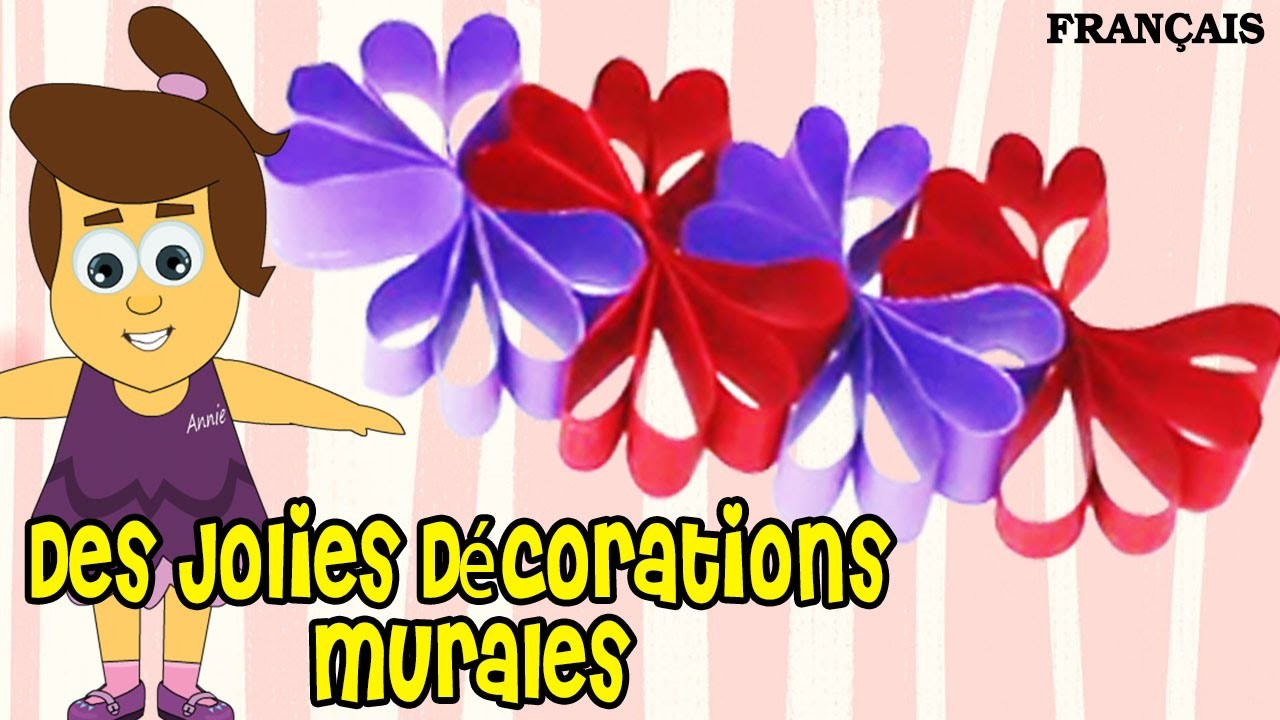 Comment Faire Des Jolies Décorations Murales | How to Make Paper Wall Art | DIY French Arts & Crafts