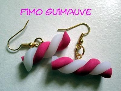 D.I.Y TUTO FIMO BOUCLES D'OREILLE FIMO GUIMAUVE