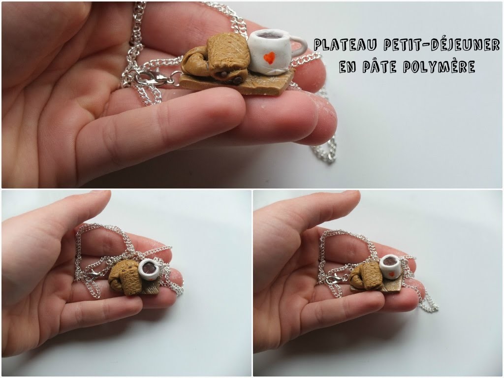 {D.I.Y.} - Collier petit-déjeuner   Breakfast necklace in Polymer Clay