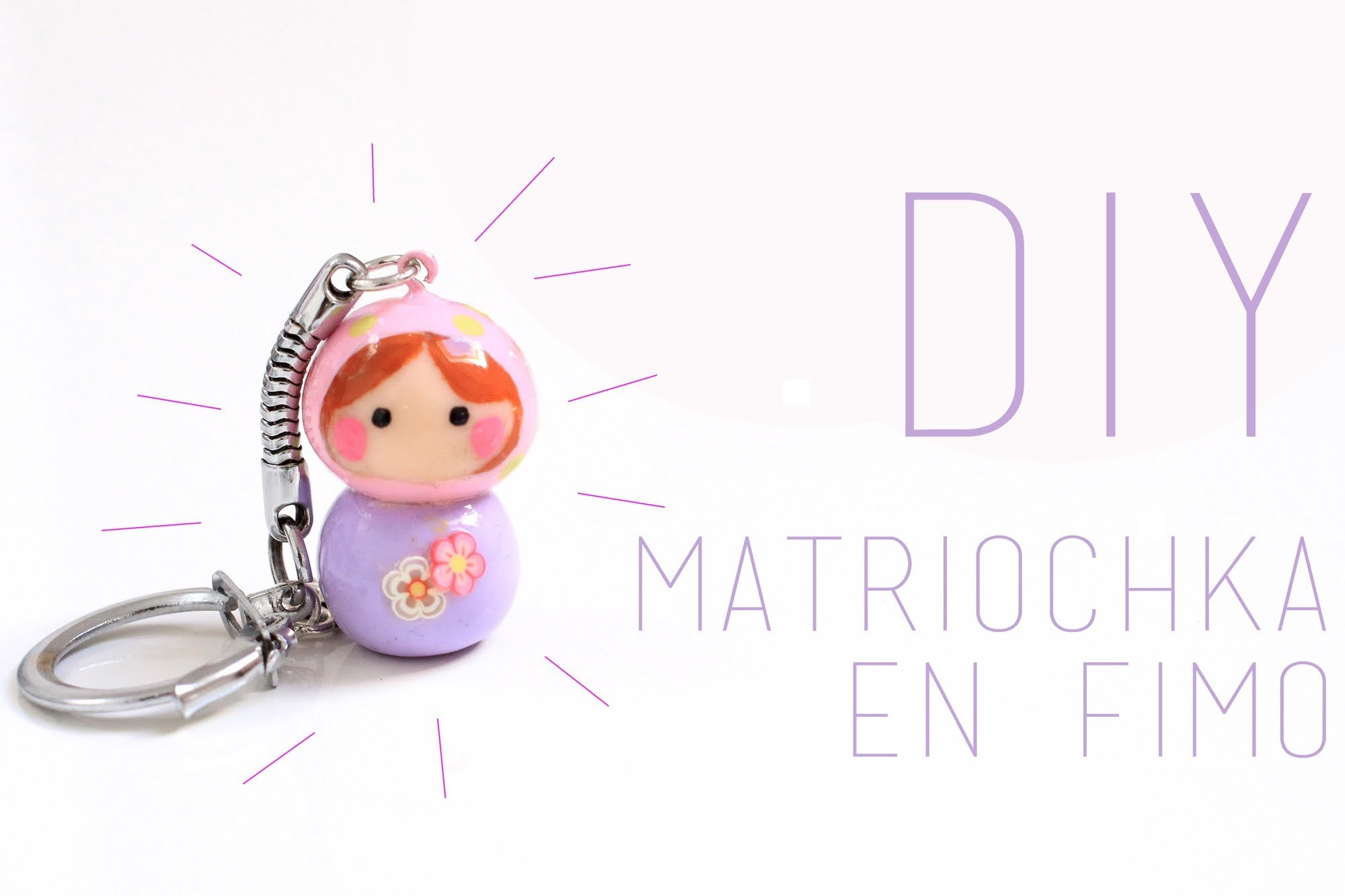 DIY : Matriochka en Fimo Kawaii. Chibi - Polymer Clay Matryoshka (English subs)