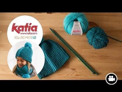 DIY Tejer Gorro Niña · Knit Girls Hat · Bonnet Fille Big Merino