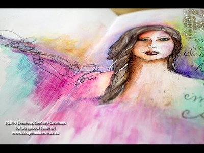 Journal d'artiste * Inktense + gesso * art journaling
