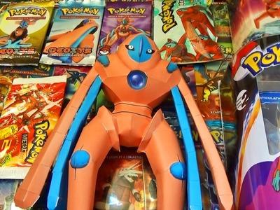 Ma Collection Pokémon DEOXYS #2 ! Booster Pokémon ULTRA-RARE ! Figurine Pokémon PaperCraft Pokémon !